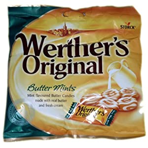 werthers original butter mints sweets - 1 x 135gm Werthers Original Butter Mints Sweets – 1 x 135gm 51cS07cHmoL