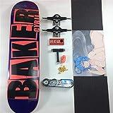 JSJJAES Skateboards Baker Pro Canadian Maple Skateboard Conjunto Completo de monopatines con Todos los Accesorios Ruedas de Camiones de Cubierta Graptable (Color : One Set)