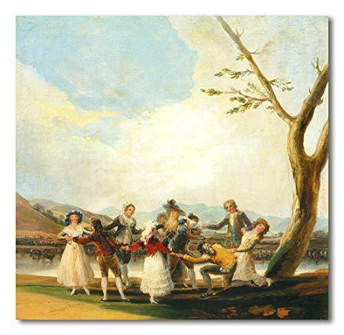 Cuadro Decoratt: La gallina ciega - Francisco de Goya 64x62cm. Cuadro de impresión directa.