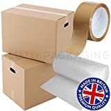 20 Strong Cardboard Storage Packing Moving House Boxes Double Walled with Bubble Wrap