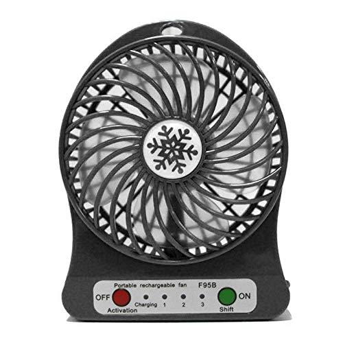 LED - Light Ventilator elektrische luchtkoeler mini bureau USB - ventilator mode hobby bureau persoonlijke ventilator 3 - versnellingen - flexibele ventilator bed kantoor Portable Roterende
