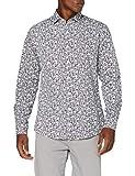 Cortefiel C6Bcc Tprint Flor Camisa Casual, Marrón (Marrón Oscuro 30), Medium (Tamaño del Fabricante: M) para Hombre