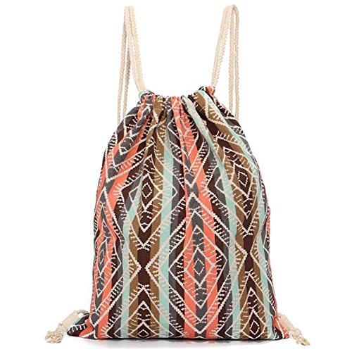 sacca sportiva zainetto donna pelle moda geometrici coulisse zaino