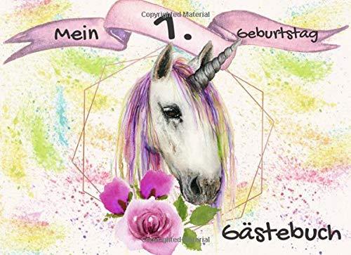 Mein 1. Geburtstag: das ideale Gästebuch für die beste Einhorn Party | 70 Seiten Platz |  und Platz zum Schreiben und Malen