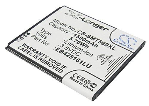 techgicoo 1500mAh, 5.70Wh recargable compatible con Samsung Galaxy Ace 2, GT-I8160, GT-I8160P, GT-S7562, Galaxy S Duos, GT-S7572, y otros