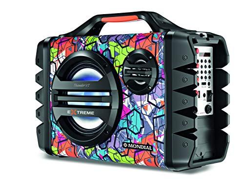 Caixa de Som Portátil Mondial Multi Connect Thunder VI MCO-06 com Bluetooth, Entrada USB e Rádio FM - 120W