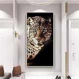 MJKLU HD afrikanisches wildes Tier König Tier Leopard