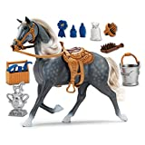 Sunny Days Entertainment Deluxe Morgan Horse Toy - Life Like Sounds and Moving Head | 14 Realistic Accessories with Detachable Sadle Brushable Mane and Tail | Blue Ribbon Champions
