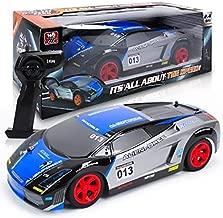 HAPPYTOYS Electric RC Car Cool Light Drift Remote Control Car Toy,Blue
