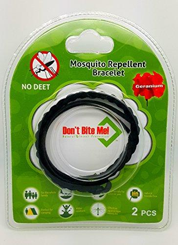 Pulsera antimosquitos Don't Bite Me con aceites esenciales 100 % naturales, negro/marrón