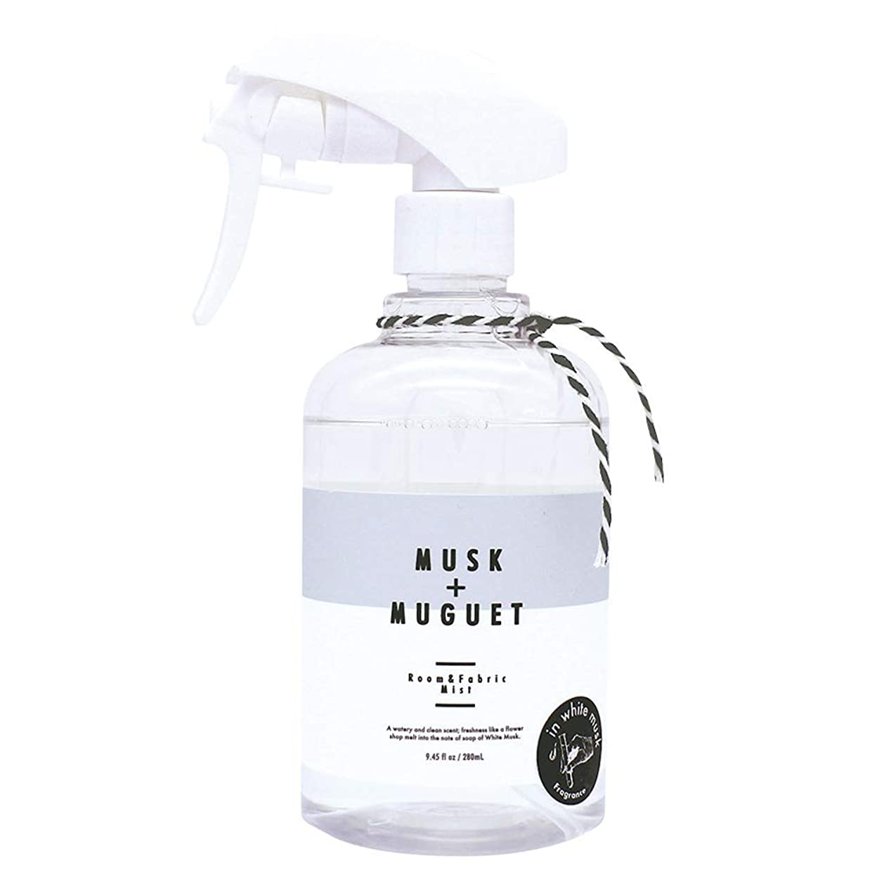 満員光振動させるノルコーポレーション ルーム&ファブリックミスト more room 消臭成分配合 ホワイトムスク & ミュゲの香り 280ml MRM-3-2