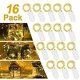 LED Batterie Lichterkette Warmweiß,【16 Stück】Vivibel 2M 20er Mikro LED Lichterkette mit...