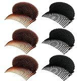 10 Stück Haarkissen Haarkamm,Hochsteckfrisur Volumen Kissen Schaumstoff Haar Styling Hilfe Haar...