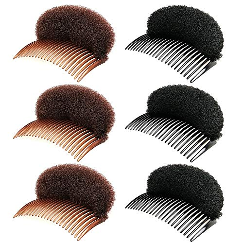 10 Stück Haarkissen Haarkamm,Hochsteckfrisur Volumen Kissen Schaumstoff Haar Styling Hilfe Haar Volumen