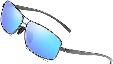 Polarized Sunglasses for Men Driving Fishing Mens Sunglasses Rectangular Metal Frame 100% UV Protection