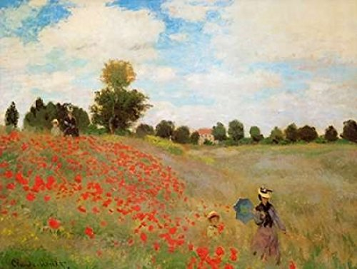 Field Of Poppies - Les Coquelicots 1873 Poster Print by Claude Monet (18 x 24)