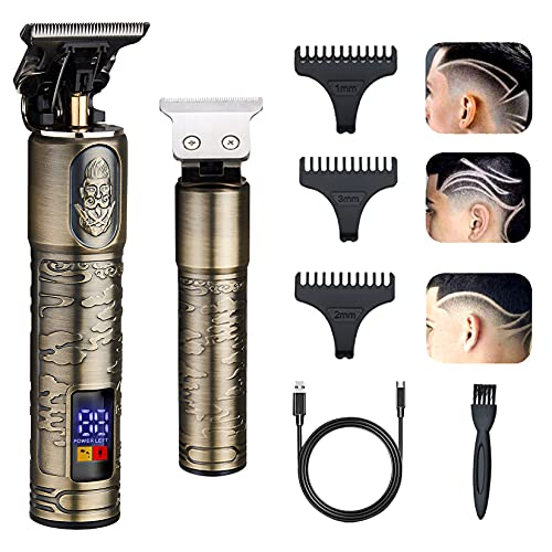 GSKY 2021 New Professional Men's Hair Clippers Zero Gapped Trimmers...