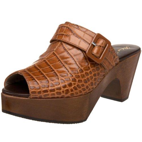 Robert Clergerie Women's PIOU Mule,Tan Croc,10 B