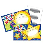 Eureka Color My World 'Bright Light and Star' Scratch Off Student Awards 24pc, 3.5'' W X 6'' H