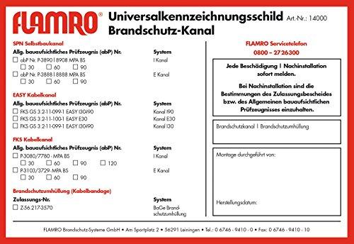 BIO Brandschutz Kennzeichnungsschild 14000 universal Zubehör für Brandabschottung 4250586102315