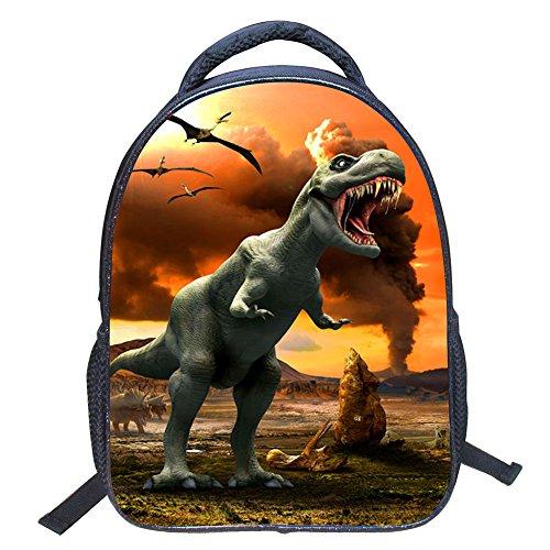 ele ELEOPTION Kindergartenrucksack Wasserdicht Rucksäcke 3D Dinosaurier Pattern Kinder Schultasche Kindergartentasche (Stil ZZ8)