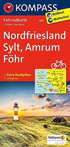 KOMPASS Fahrradkarte Nordfriesland, Sylt, Amrum, Föhr: Fahrradkarte. GPS-genau. 1:70000 (KOMPASS-Fahrradkarten Deutschland, Band 3001)