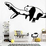 yaonuli Habitación de los niños Lindo Panda de Dibujos Animados Etiqueta de la Pared Dormitorio decoración de la Sala decoración del hogar 30X57cm