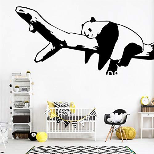 Tianpengyuanshuai Netter Panda Cartoon Wandaufkleber Dekorativer Aufkleber -24X45cm