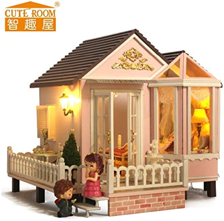 DIY Holzhaus Miniaturas Mit Mbeln DIY Miniature House Dollhouse Spielzeug Für Kinder Geburtstag