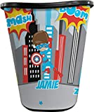 YouCustomizeIt Superhero in The City Waste Basket - Double Sided (Black) (Personalized)