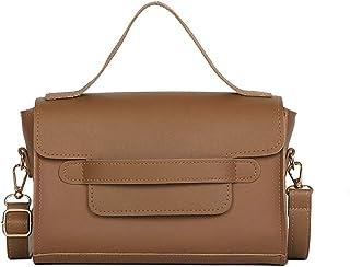 Wultia - Bags for Women Women Fashion Retro Portable Small Square Bag Simple Wild Shoulder Messenger Bag borse da Donna Khaki