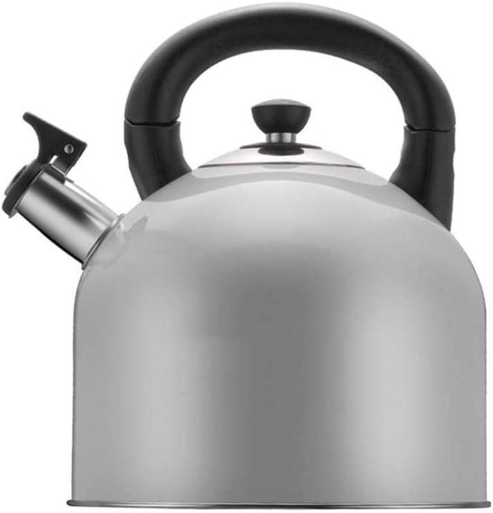 Tetera silbante Anillo de Acero Inoxidable Moderna Pot 4L Gas ...