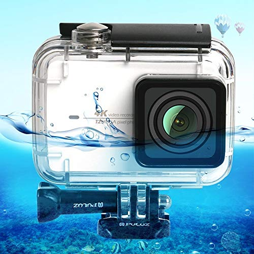 YOOW Kameratasche New 45m Unterwasserunterwassergehäuse Tauch Fall for Xiaomi Xiaoyi II 4K-Action-Kamera, mit Schnalle Grund Mount & Screw