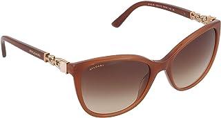 بولغاري نظارة شمسية للنساء ، عدسات ذات لون بني