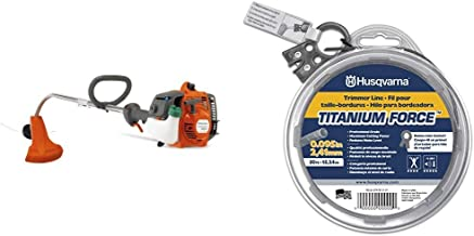 Husqvarna 128CD 17 in. String Trimmer with 50 ft. Donut .095 String Trimmer Line Bundle
