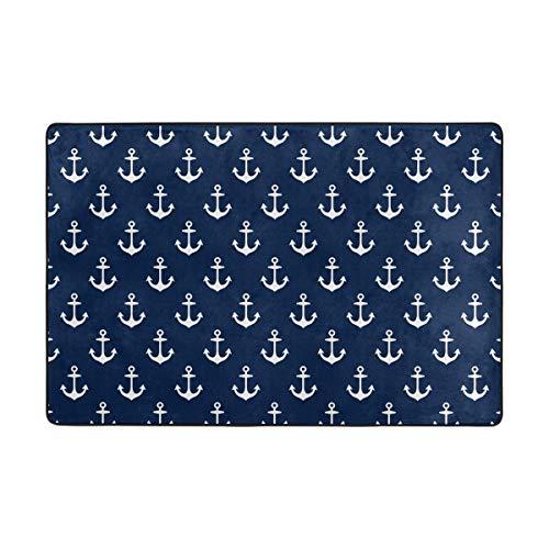 Orediy Weiche Teppiche Anker in dunkelblau, leichter Bereich Teppiche Kinder Spielboden Matte rutschfest Yoga Teppich für Wohnzimmer Schlafzimmer