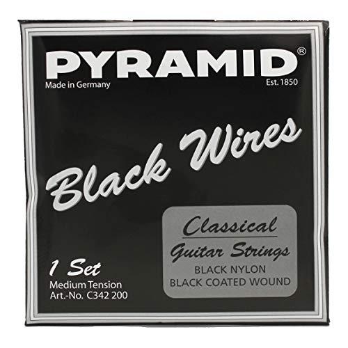 Pyramid C342200 Nylon Black Wires   schwarze Konzertgitarrensaiten
