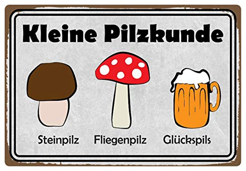 Metalen bord 30x20cm kleine paddenstoelkunde Bier Pils bord tin Sign