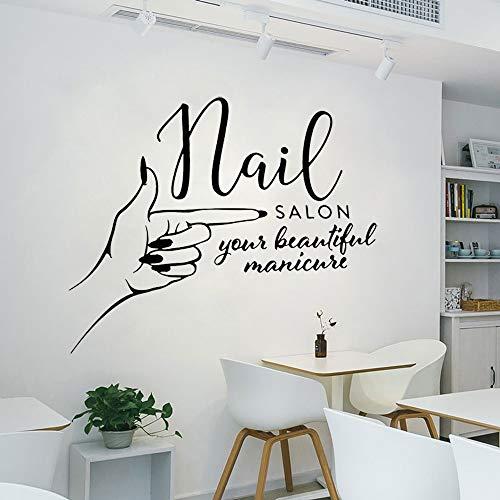JXMN 75x63cmCustomizable size name DIY manicure nail studio logo wall decal girl nail beauty salon vinyl wall sticker artist home decoration hand spa woman modern Muro