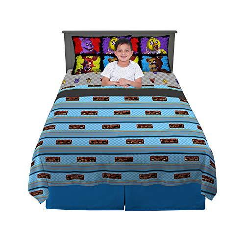 Scott Games Juego de sábanas, Microfibra Suave, Multicolor, tamaño Completo, Paquete de 4 Piezas