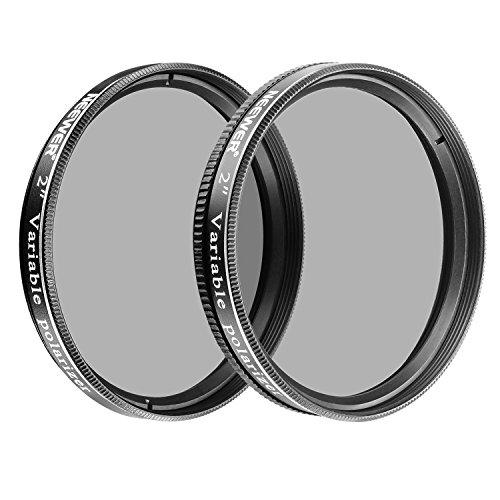 Neewer 2 inches Variable Polarizing Filters Optical Glass for Telescopes and Eyepieces to Dim The View, Increase Contrast, Reduce Glare and Increase Detail (2 Pieces)