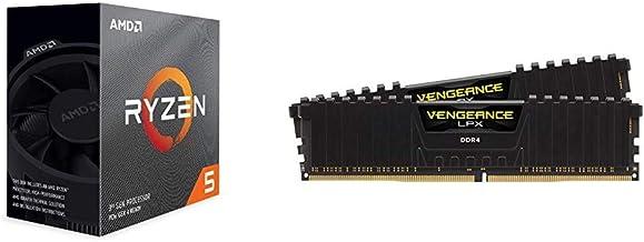 AMD Ryzen 5 3600 6-Core, 12-Thread Unlocked Desktop Processor with Wraith Stealth Cooler & Corsair Vengeance LPX 16GB (2x8...