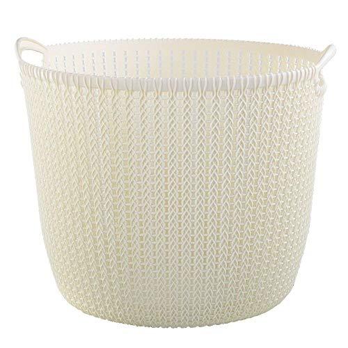 Zfggd Cesto de plástico Cesta de lavadero Cesta Ropa de baño Ponga Ropa Sucia Cubo Caja de Almacenamiento Cesta Blanca