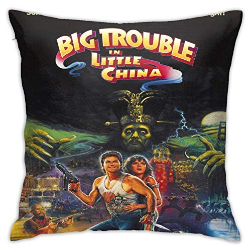 linqi Big Trouble in Little China Throw Pillow Cushion Covers 18x18inchs,Throw Pillow Cases for Couch Bedroom Car Cowboy