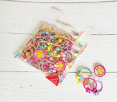 Koreaanse versie Groothandel 50 Stks Kleurrijke Kind Kinderen Haar Houders Leuke Rubber Haarband Elastiek Accessoires Meisjes Bedels Tie Gum