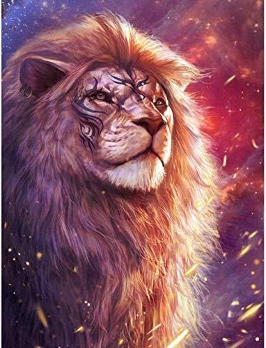 5D Diy Pintura Diamante Taladro Completo Kit Para Adultos Bordado León Animal Regalos De Decoración De Pared Para El Hogar30X40Cm(11,8X15,7 Pulgadas)