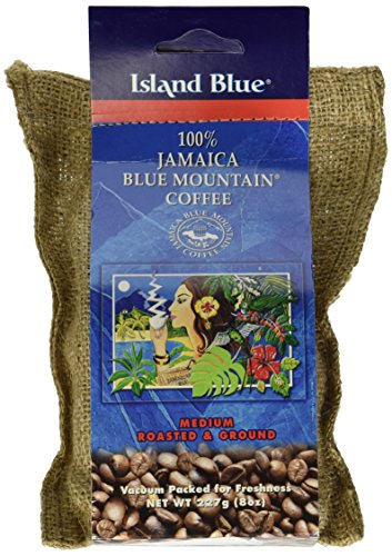 Island Blue -100% Jamaica Blue Mountain Ground Coffee 8oz