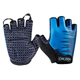 Crusea Fingerless Bike Cycling Shockproof Foam Padded Sports Gloves UV Protection for Bicycles, Fishing, Canoeing, Kayaking, Rowing, Hiking, Paddling, Driving - Women (M)