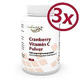 Pack de 3 Arándano Rojo 400mg + Vitamina C - 3 x 180 Cápsulas Vegetales - Vita World Farmacia Alemania
