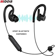 MIDOLA Sports Bluetooth Headphones, in-Ear Earbuds w/Mic, Waterproof IPX7, Deep Bass HiFi Stereo Sound, 6 Hours Play Time, Noice Cancelling for Running, Jogging, Cycling, Exercising, Workout